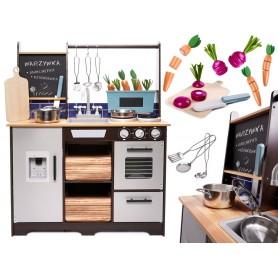 Medinė virtuvėlė Loft + priedai