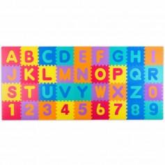Didelė dėlionė - kilimėlis su raidėmis ir skaičiais Multicolor