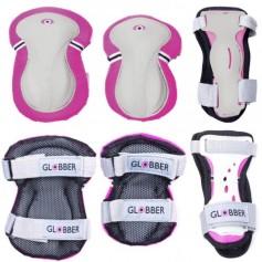 Alkūnių, riešų ir kelių apsaugos Globber Deep Pink