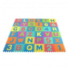 Dėlionė - kilimėlis su raidėmis ir skaičiais