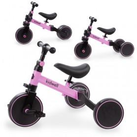 Triratukas su pedalais - balansinis dviratukas 3in1 Pico Pink