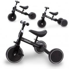 Triratukas su pedalais - balansinis dviratukas 3in1 Pico Black