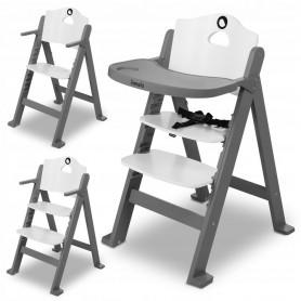 Medinė maitinimo kėdutė Floris Grey su staliuku