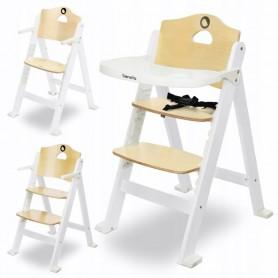 Medinė maitinimo kėdutė Floris White su staliuku