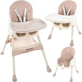 Maitinimo kėdutė 2in1 Kruz Pink su daiktų krepšiu