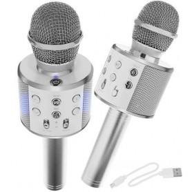 Mikrofonas - karaoke su balso keitimo funkcija Silver
