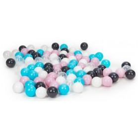 Plastikiniai kamuoliukai Pastel 100 vnt.