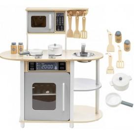 Medinė vaikiška virtuvėlė Modern su priedais