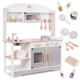 Medinė vaikiška virtuvėlė su indaplove