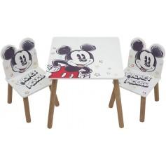 Staliukas su dviem kėdutėmis Mickey Mouse