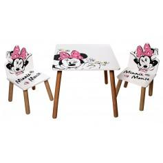 Staliukas su dviem kėdutėmis Minnie Mouse