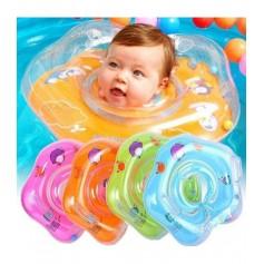 Pripučiamas plaukimo - maudymosi ratas ant kaklo