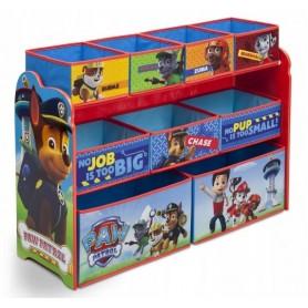 Didelė žaislų dėžė - lentyna Paw Patrol su 9 stalčiais