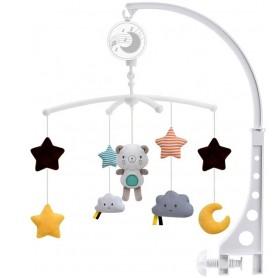 Muzikinė prisukoma karuselė Teddy Plush