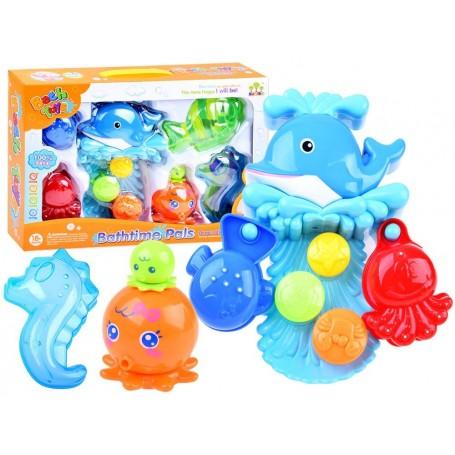 Vonios žaislas Bathtime Pals su indeliais