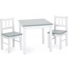 Vaikiškas medinis staliukas su kėdutėmis Joy