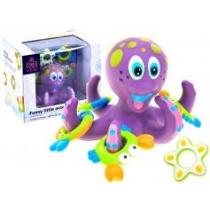 Aštuonkojis Violet su žaisliukais