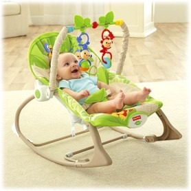 Fisher Price gultukas iki 18 kg. Infant to toddler Rainforest