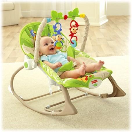 Fisher Price gultukas iki 18 kg. Infant to toddler Rainforest