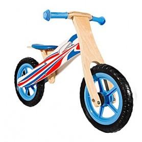 Medinis balansinis dviratukas Blue
