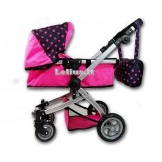 Vežimėlis lėlėms Rossy (spalva - hot pink)