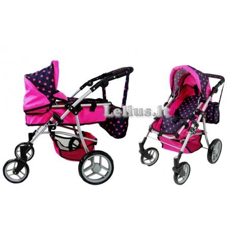 Vežimėlis lėlėms Daisy (spalva - hot pink)