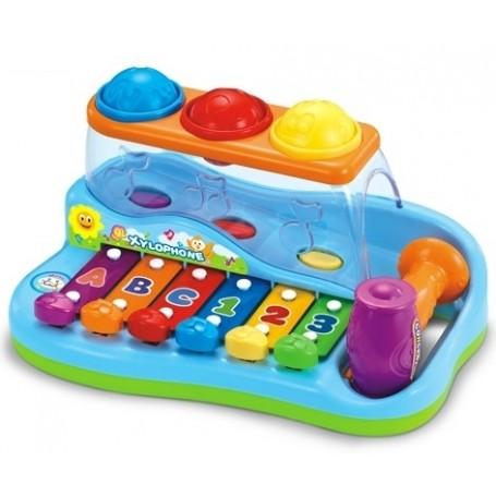 Vaikiškas ksilofonas su plaktuku