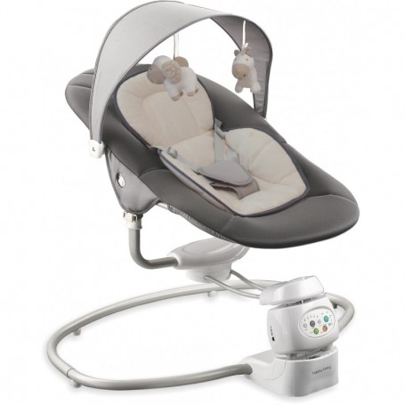 BabyMix kūdikio supynės 360° De Luxe Grey