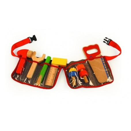 Dailidės diržas su įrankiais (raudoni dirželiai)